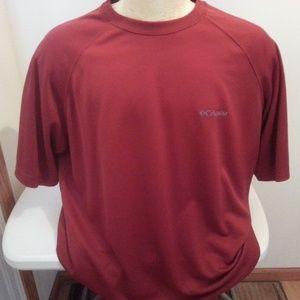 Columbia red/rust short sleeve shirt - mens XL